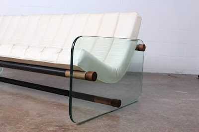 A Sofa With Glass Elements