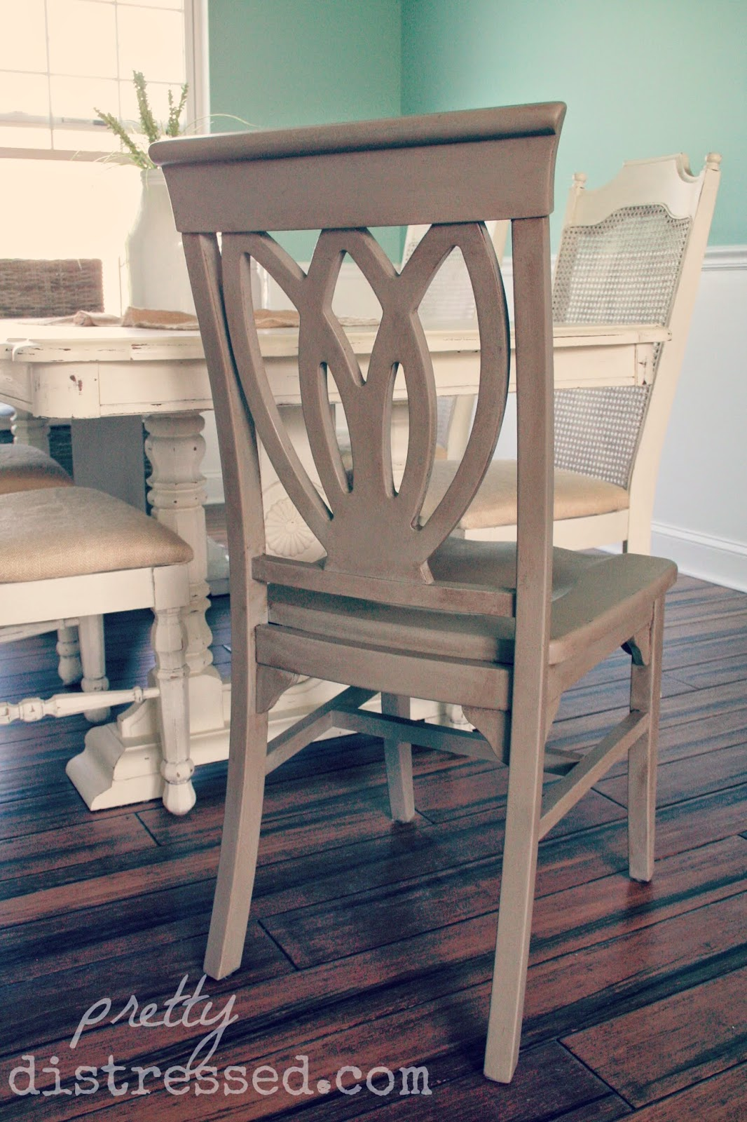 Chalk Paint Chairs Pretty Distressed Modern Chairs To Aged Beauties