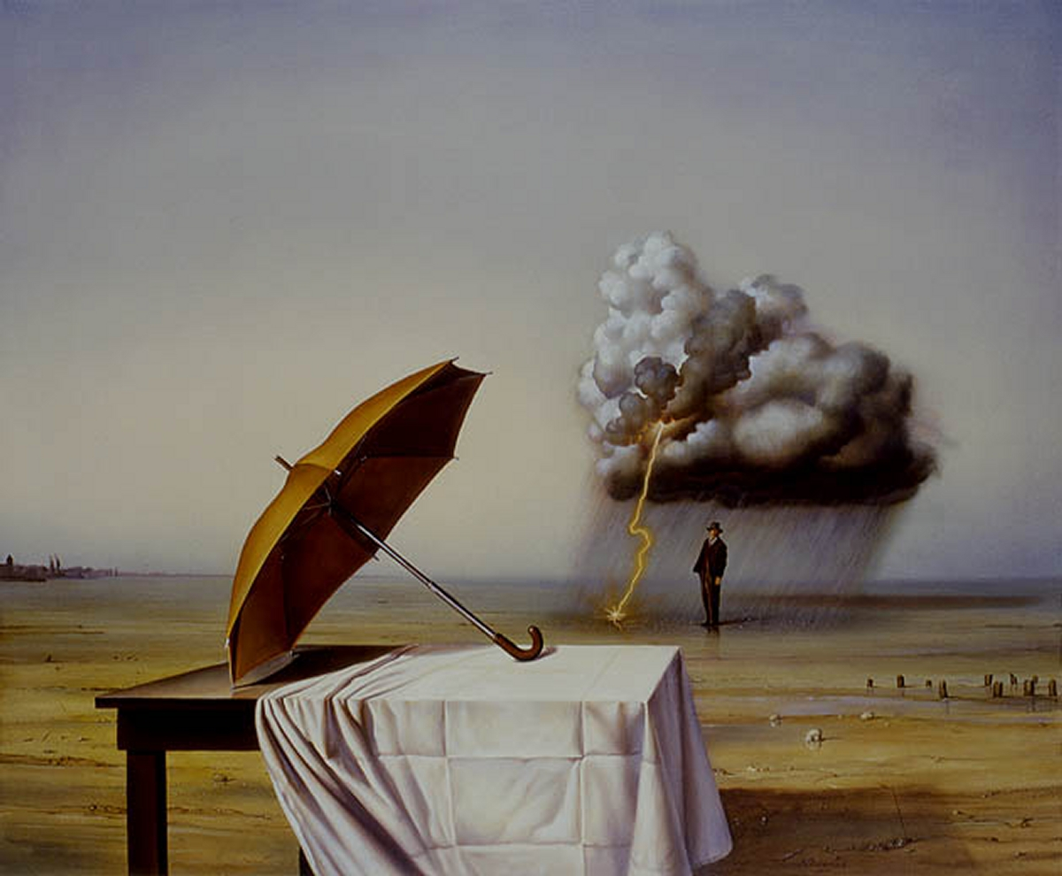 11-The-Forgotten-Umbrella-Siegfried-Zademack-Surreal-Oil-Paintings-that-tell-us-a-Story-www-designstack-co