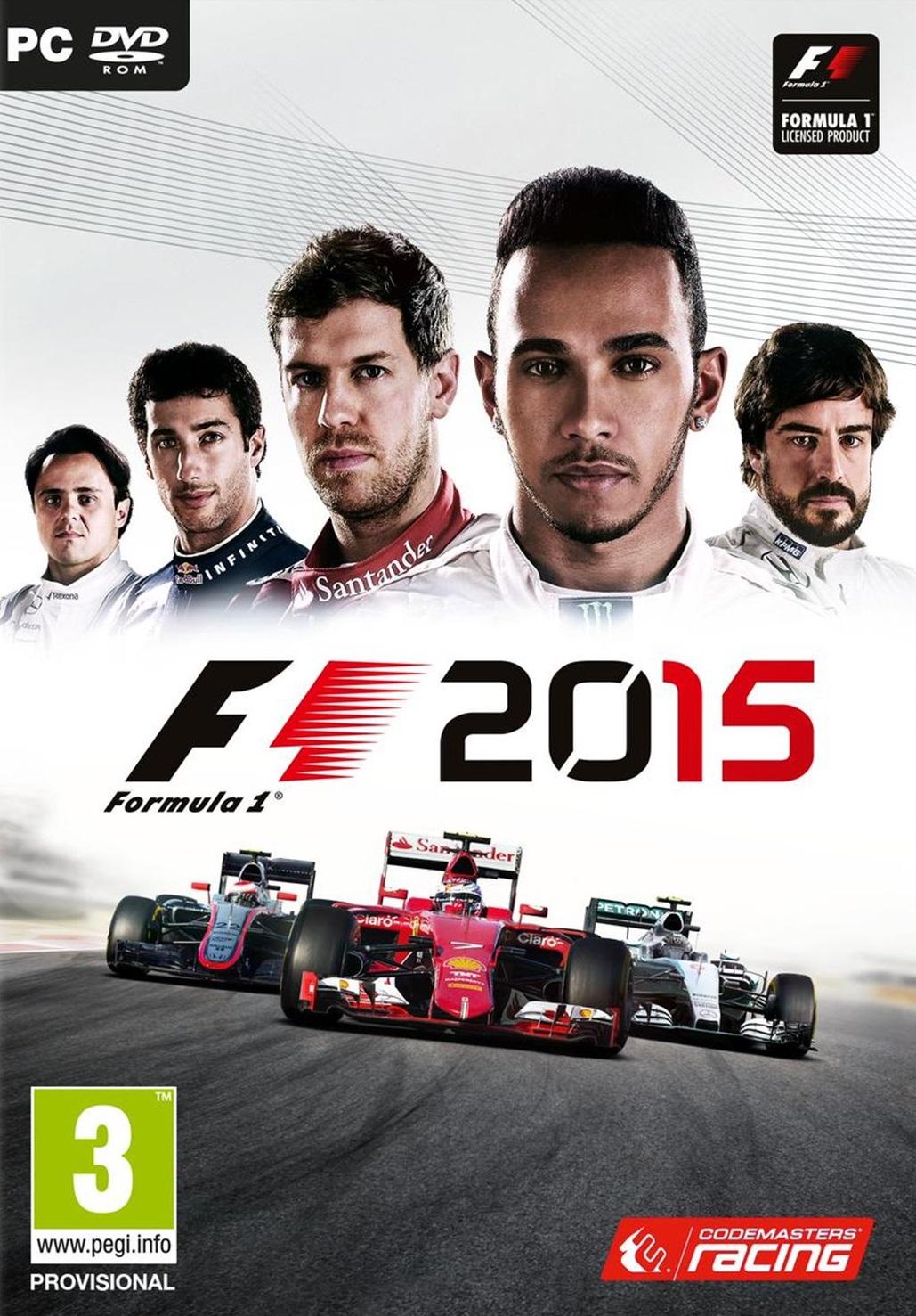 F1 2015 ESPAÑOL PC Full Cover Caratula
