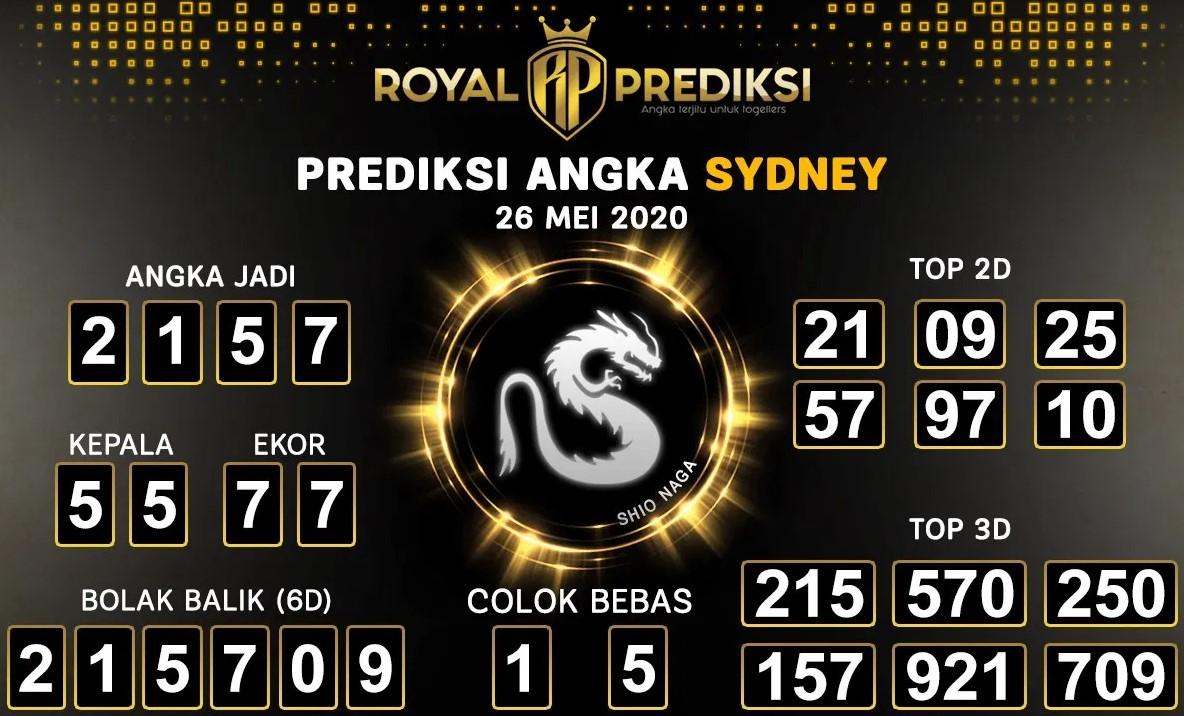 Prediksi Sydney Selasa 26 Mei 2020 - Royal Prediksi