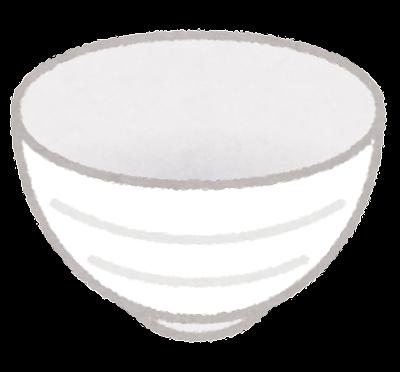 お茶碗のイラスト(食器)