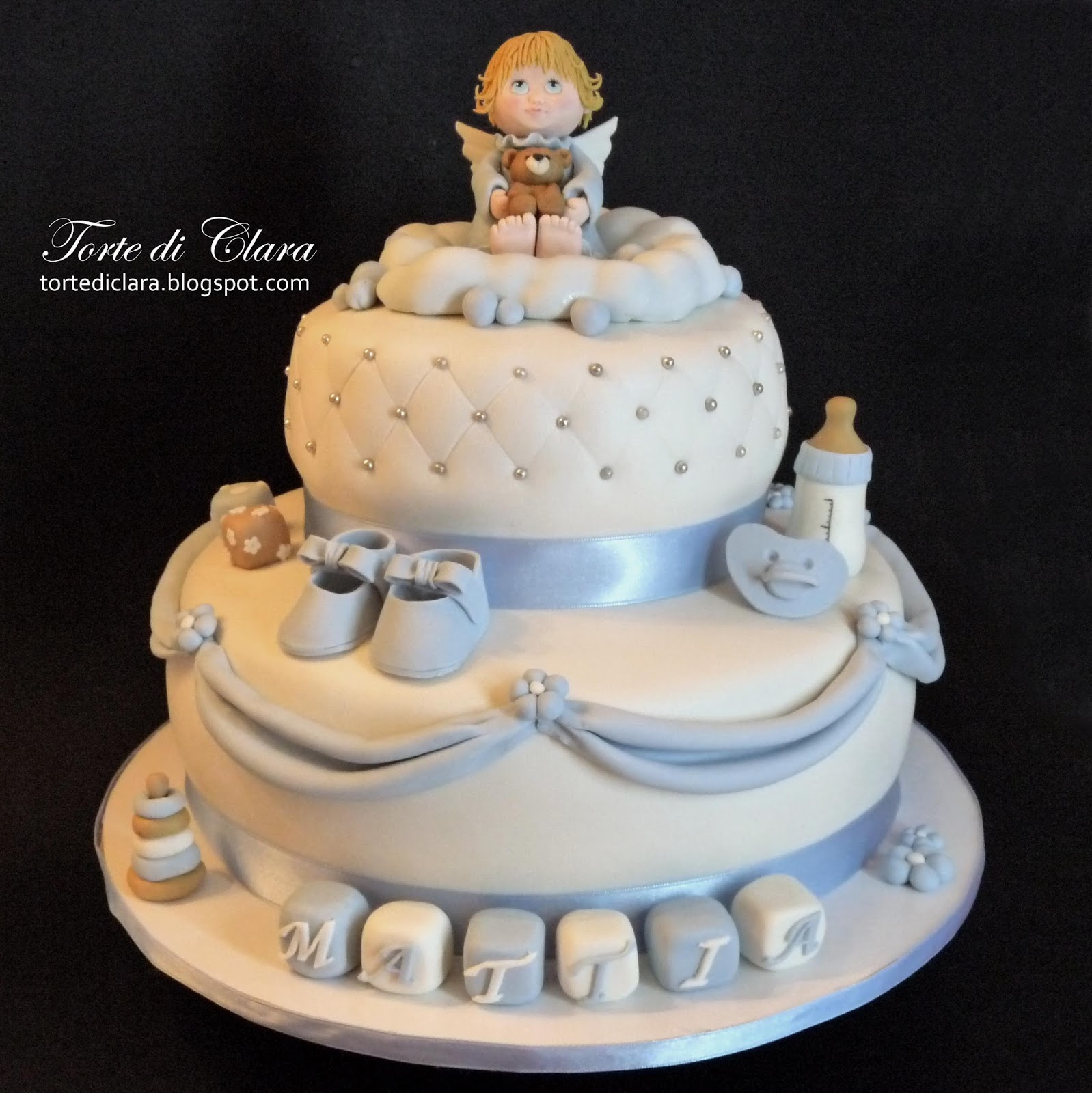 Favorito Torte di Clara: Torta Battesimo (5) EE38