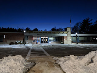 Parmenter School after a different snow storm