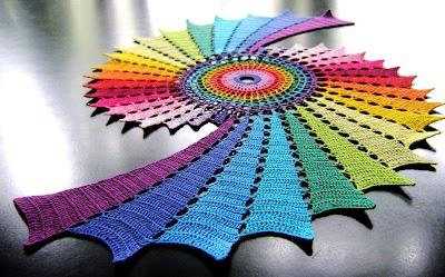 Espiral Arco Iris tapetes para mesas