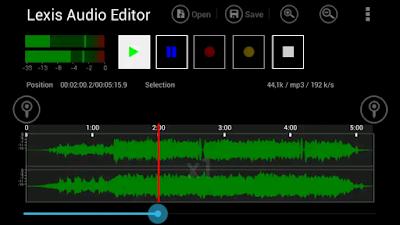 تطبيق ممتاز في الهندسة الصوتية  Lexis Audio Editor للهاتف المحمول