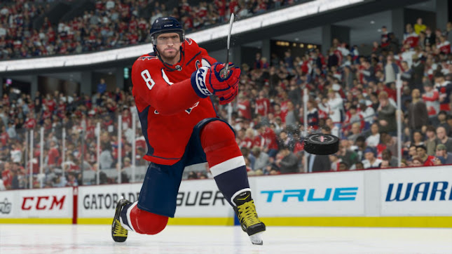 NHL 21 a snapshot from the PS4 gaming console