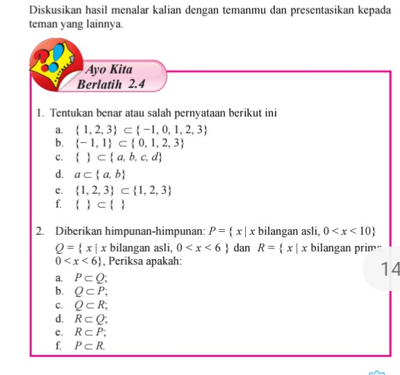 Smp Kunci Jawaban Matematika Kelas 7 Semester 1 Gudang Kunci