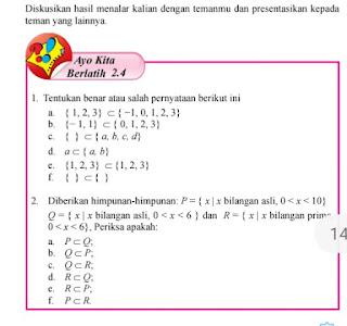 Ayo Kita Berlatih 2.4 Soal dan Jawaban Matematika Kelas 7