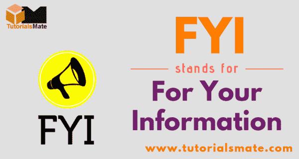 FYI Full Form