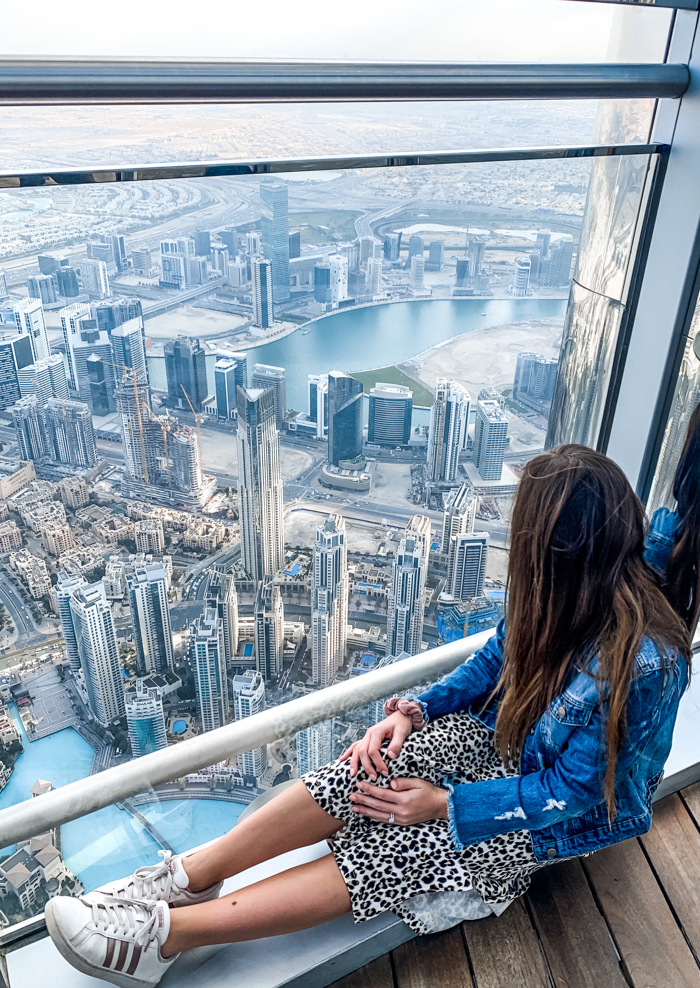 View from Burj Khalifa in Dubai - Chasing Cinderella