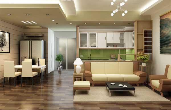 Mẫu thiết kế phòng khách căn hộ Booyoung Vina