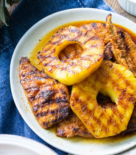Grilled Paleo Pineapple Chicken #paleo #diet