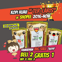 Organic Raw Green Coffee HealthyNoona - Greencoffe Greencoffee Teh Kopi Hijau Pelangsing Diet Tea