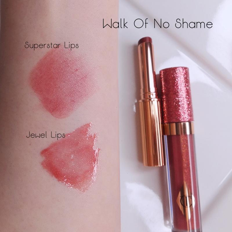 Charlotte Tilbury Walk Of No Shame lip color comparison