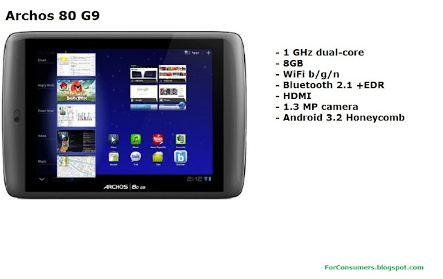 Archos 80 G9 Android tablet