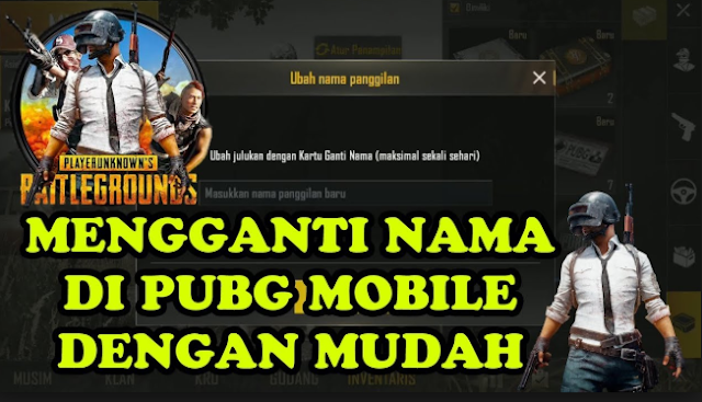 How to change the PUBG mobile account name