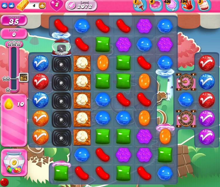 Candy Crush Saga level 2072