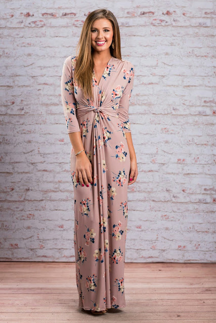Maxi floral maxi dress