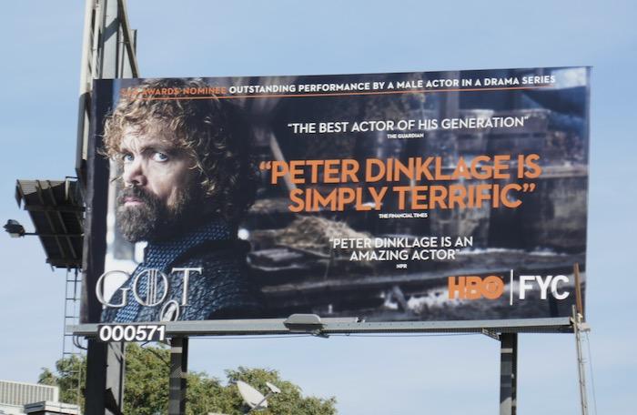Peter Dinklage Game of Thrones SAG Awards billboard