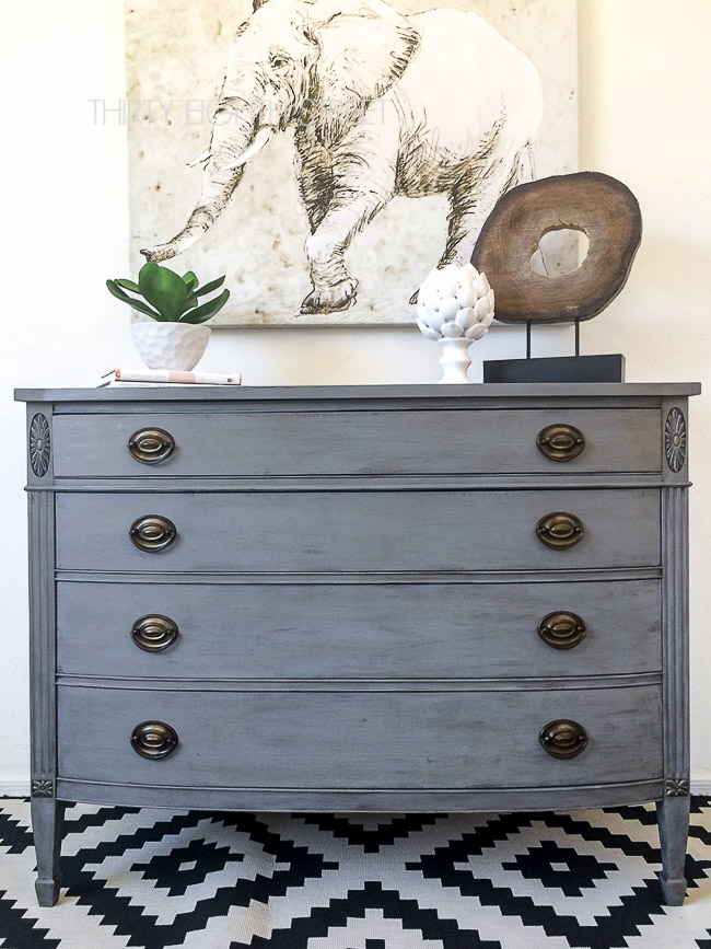 restoration hardware knock off dresser, knock off furniture ideas, restoration hardware knock off dresser, dry brushing furniture, dry brush paint, painting furniture, painting furniture tutorial