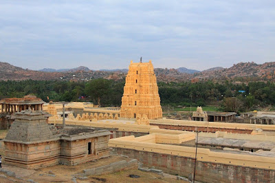 Virupaksha Temple Architecture - Group of Monuments at Hampi Karnataka