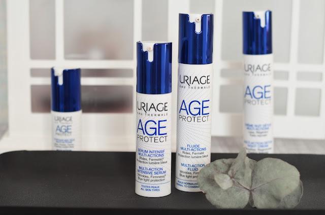 Uriage Age Protect Multi-Action Intensive Serum Многофункциональная интенсивная сыворотка Uriage Age Protect Multi-Action Fluid Многофункциональная дневная эмульсия для лица