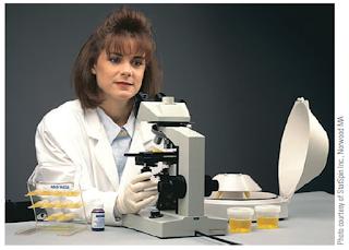 Gambar 5-30 Menggunakan sistem CenSlide untuk analisis mikroskopis sedimen urin