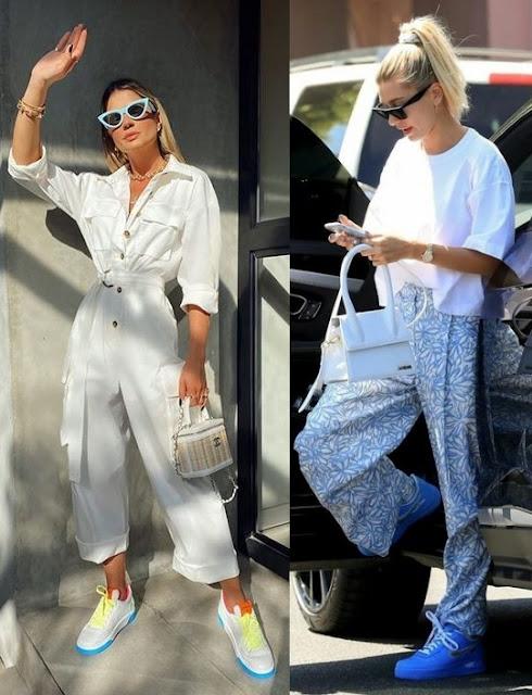 6 looks inspiração calçados statement- Tendência, Thássia Naves, Hailey Baldwin Bieber