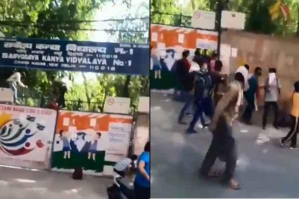 delhi-tilak-nagar-quarantine-center-people-seeing-run-away-video