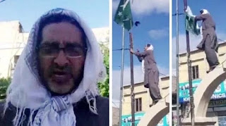 Protests against Pakistan intensified in POJK, social worker removes Pakistan flag