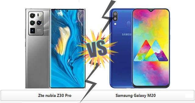 Compare: Nubia Z30 Pro VS Samsung Galaxy M20 Update 2021