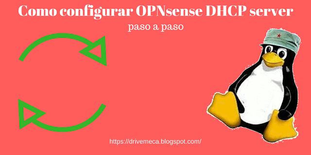 Como configurar OPNsense DHCP server