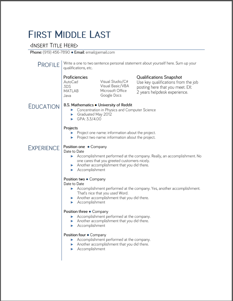 Example Resumes – Objective for Resume for College Student
