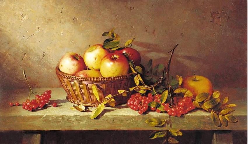 Imgenes Arte Pinturas Frutas en Canastos Bodegones