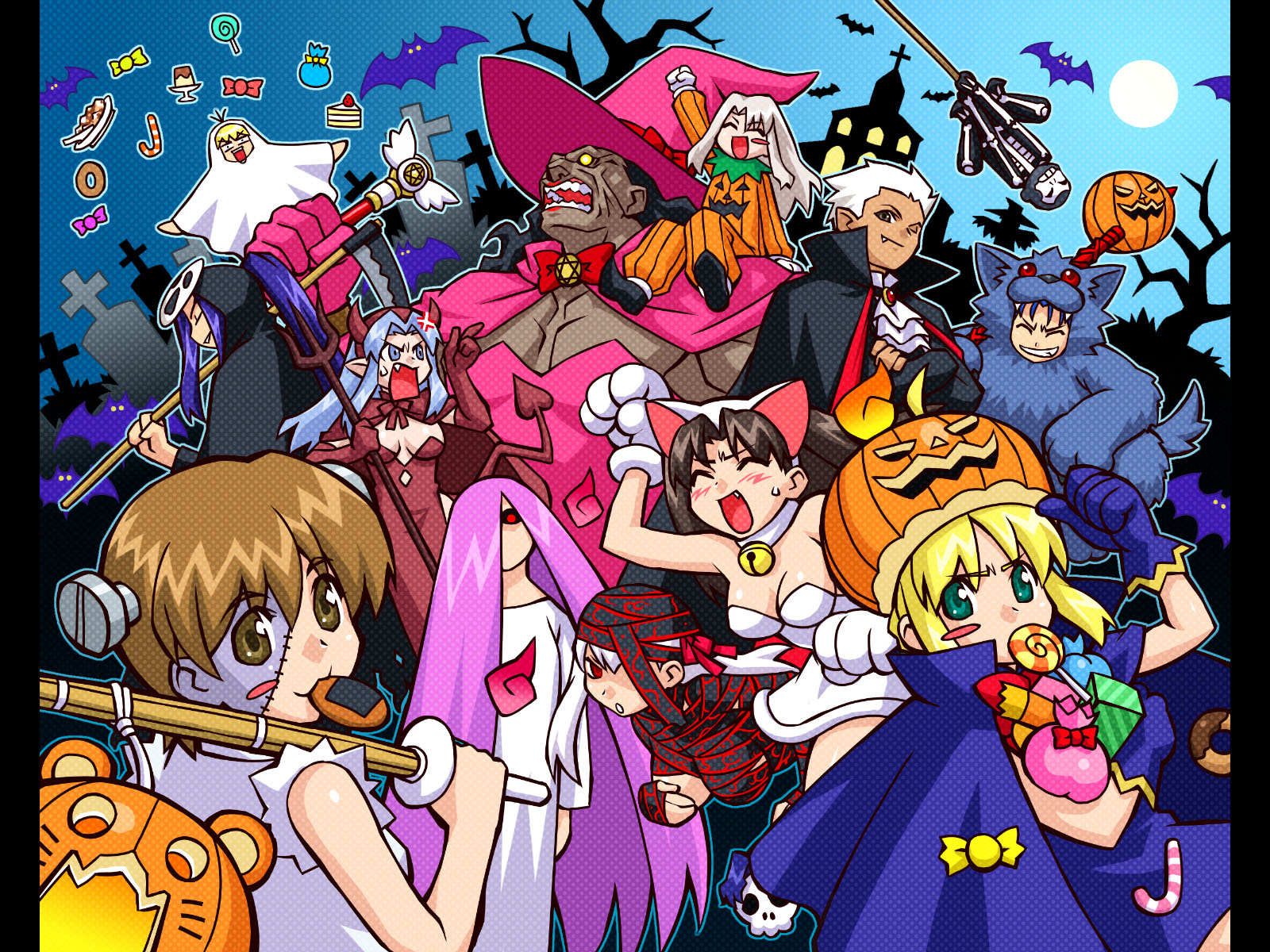 58 Anime Halloween Wallpapers Magone 2016