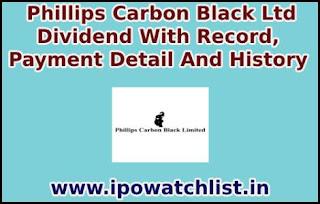 Phillips Carbon Black Dividend