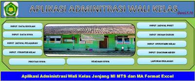 Aplikasi Untuk Wali Kelas Jenjang MI MTS MA