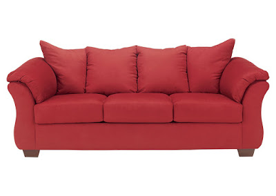 Ashley Darcy red sofa