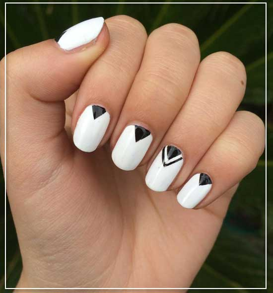 Triangles Tucked Nail Designs