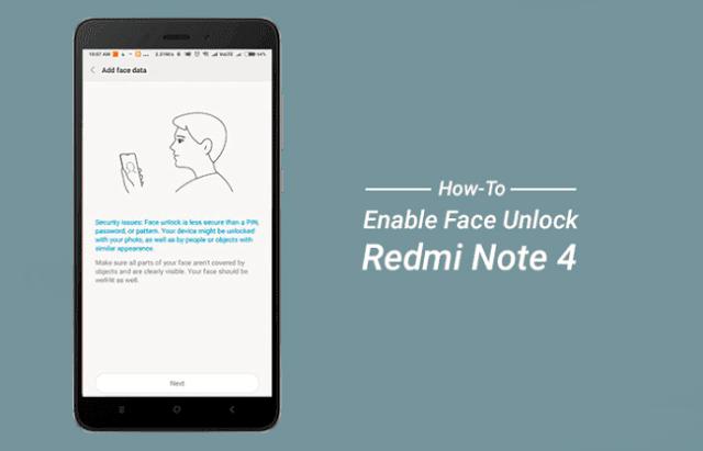 Cara Mengaktifkan Face Unlock Di Redmi Note 4