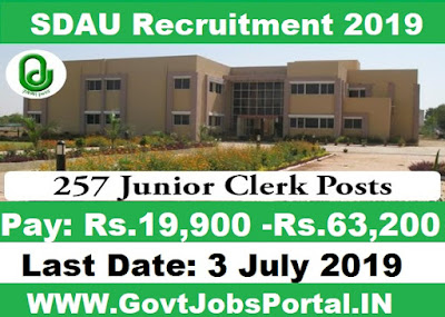 SDAU Recruitment 2019