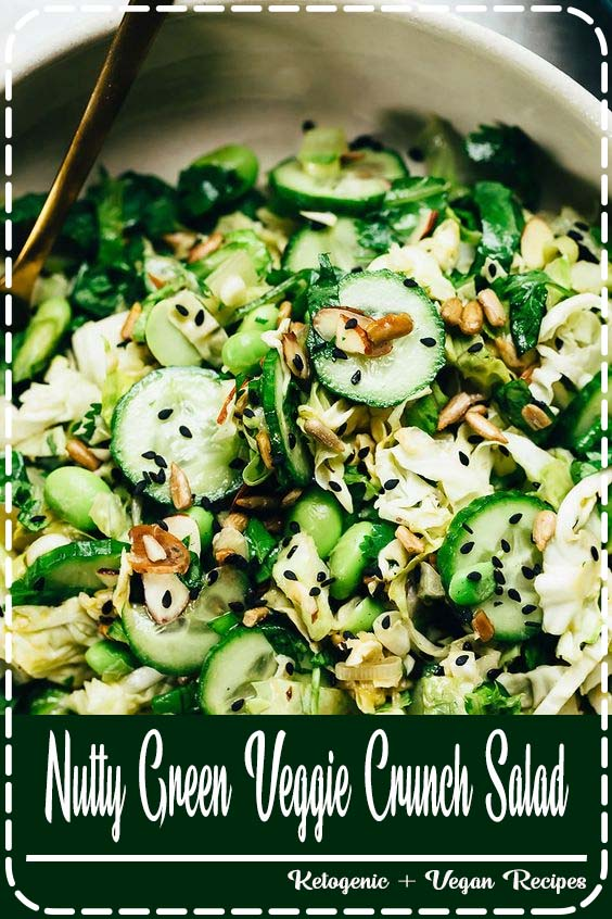 This nutty green veggie crunch salad ranks among my all Nutty Green Veggie Crunch Salad