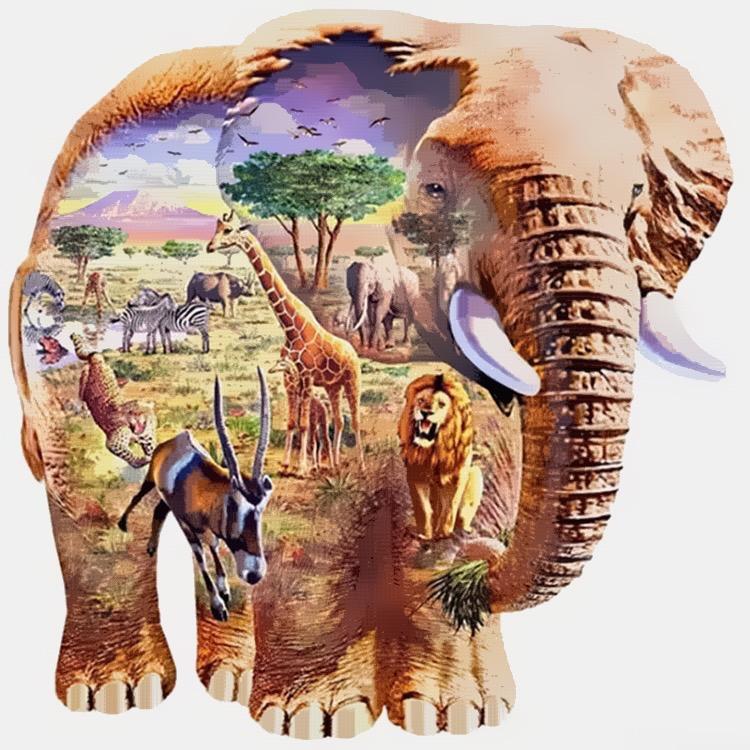 Elefante em Arte da Natureza Fantástica