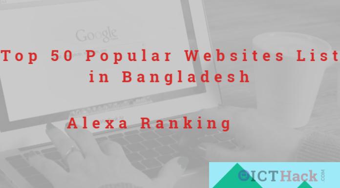 50 Popular Websites List in Bangladesh By Alexa Ranking