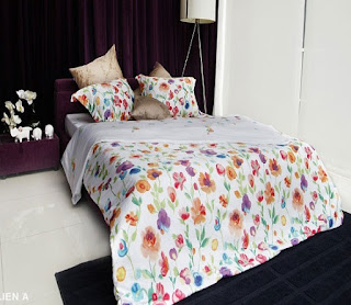 bộ chăn ga gối Liên Á Floral F10140