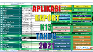 PENYEGARAN APLIKASI RAPORT K13 SD TAHUN 2021