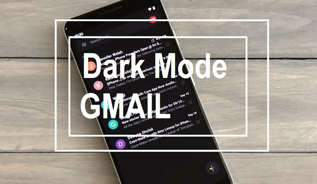 Dark Mode di Gmail