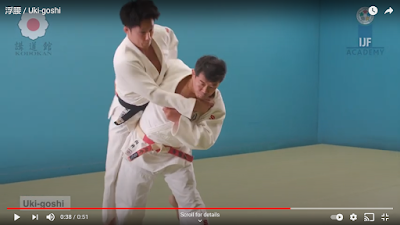 Picture of correct Hip position for Uki Goshi