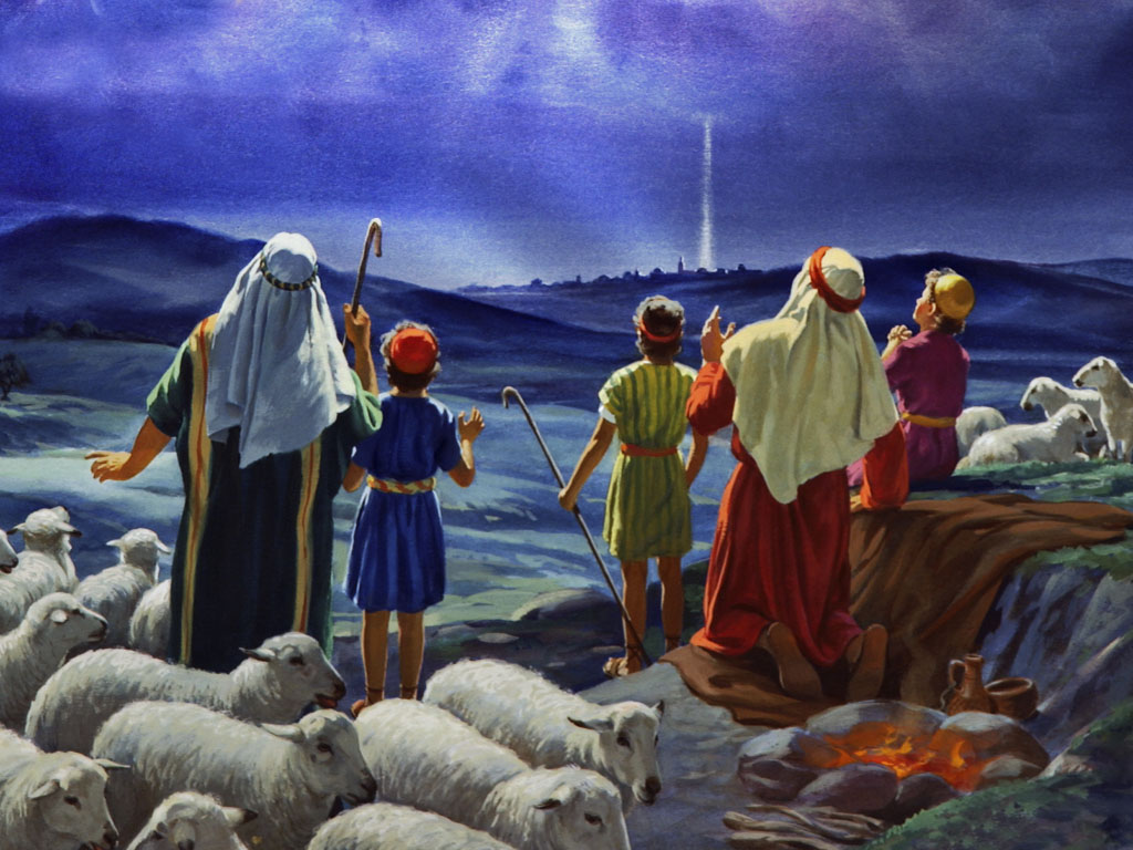 angels sing to shepherds - photo #6